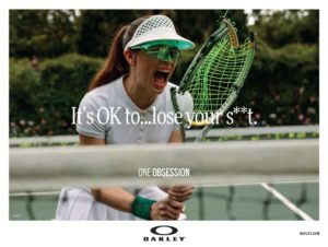 copywriting oakley its oke to loose your shit