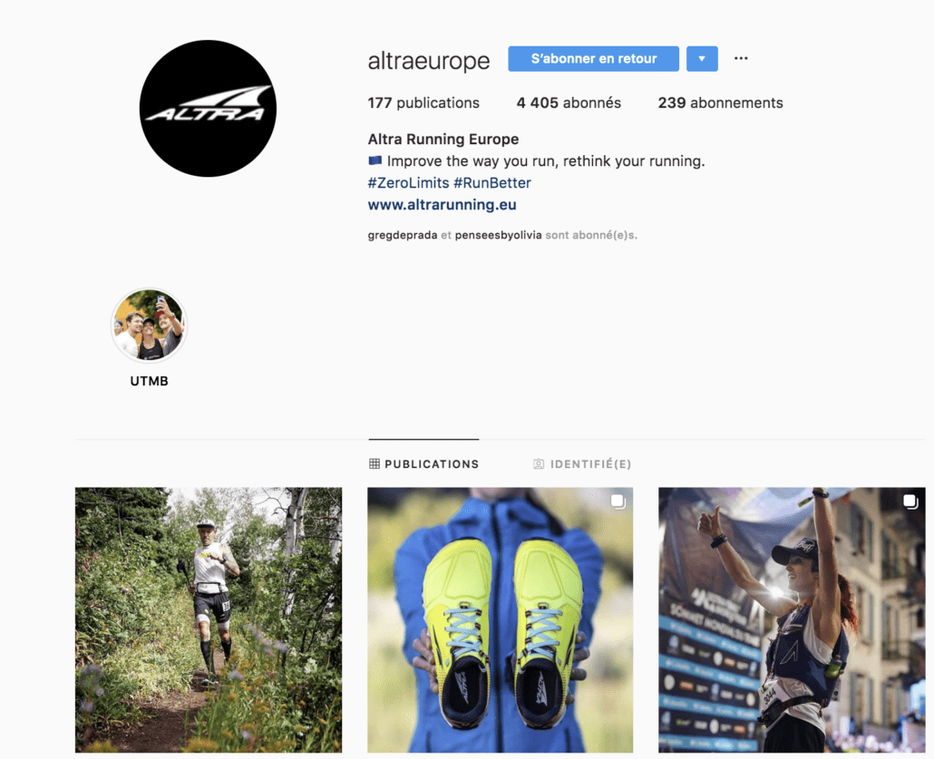 Instagram altra running europe